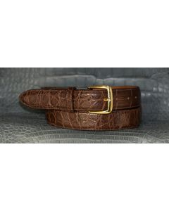 "Men's  In Stock Wide, 1-1/2"" Dress-Casual Alligator Belt"