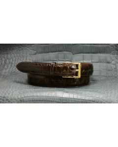 "Men's Custom, Odd and Even Sizes , Extra Length, Stock Color & Stock Quality   1 1/4"" Dress Alligator Belts"