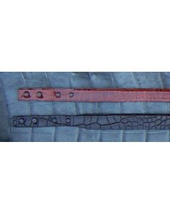 """1 1/4"""" Alligator Straps Tapered To 1""""    (Straps do not have holes. Straps and belts are not interchangeable.  See description at bottom of page before ordering. )"""